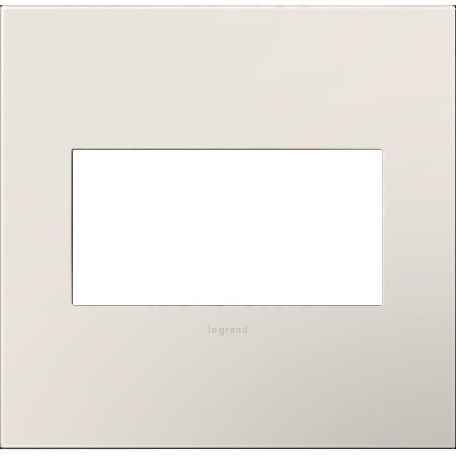 Legrand adorne 2-Gang Satin Light Almond Double Square Wall Plate