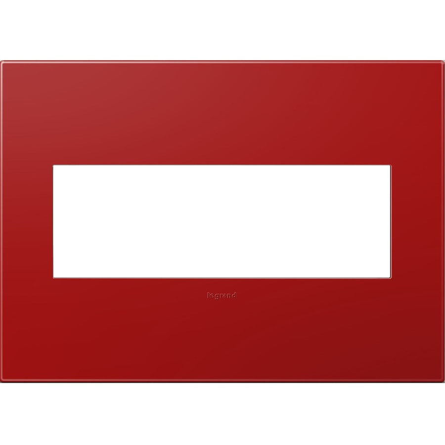 Legrand adorne 3-Gang Cherry Triple Square Wall Plate