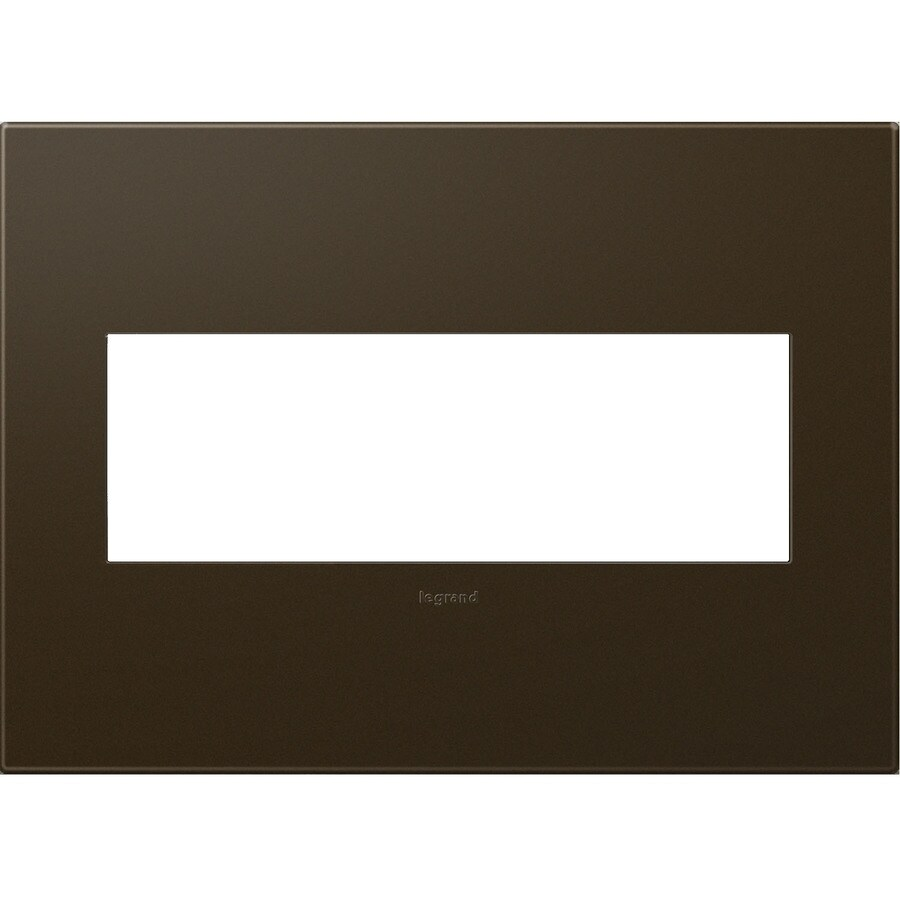 Legrand adorne 3-Gang Bronze Triple Square Wall Plate
