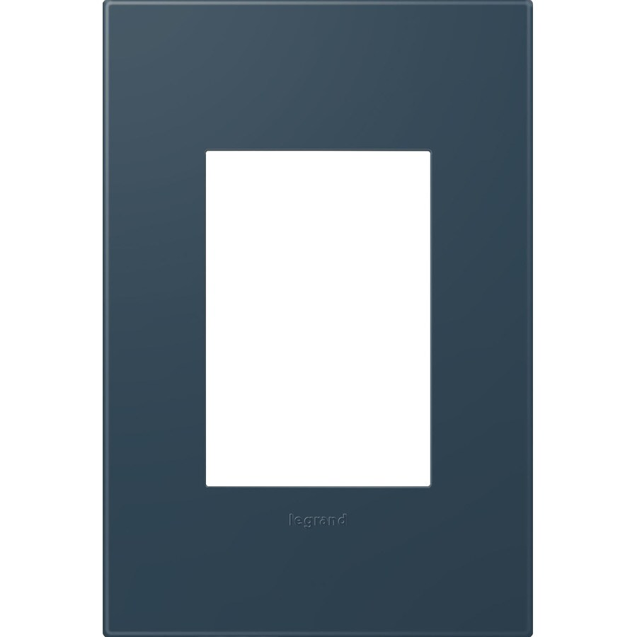 Legrand adorne 1-Gang Felt Green Single Square Wall Plate