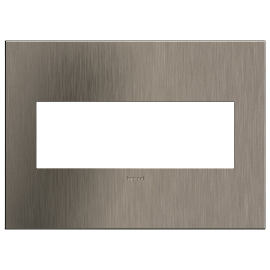 Legrand adorne 3-Gang Satin Nickel Triple Square Wall Plate