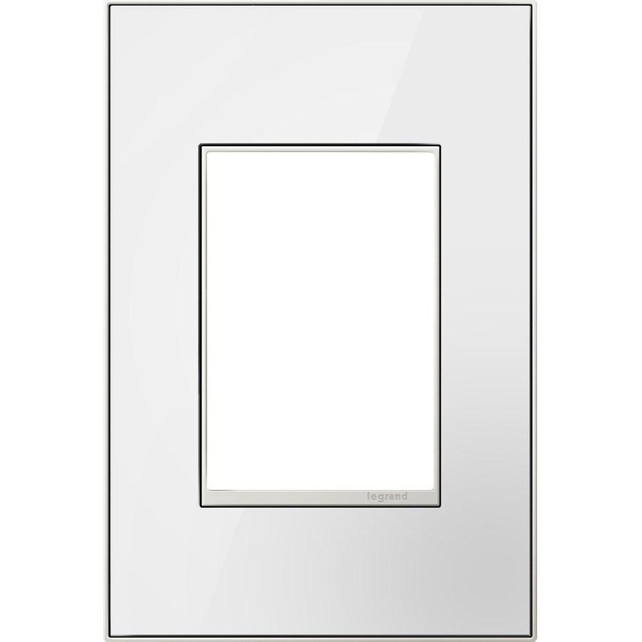 Legrand adorne 1-Gang Mirror White Single Square Wall Plate