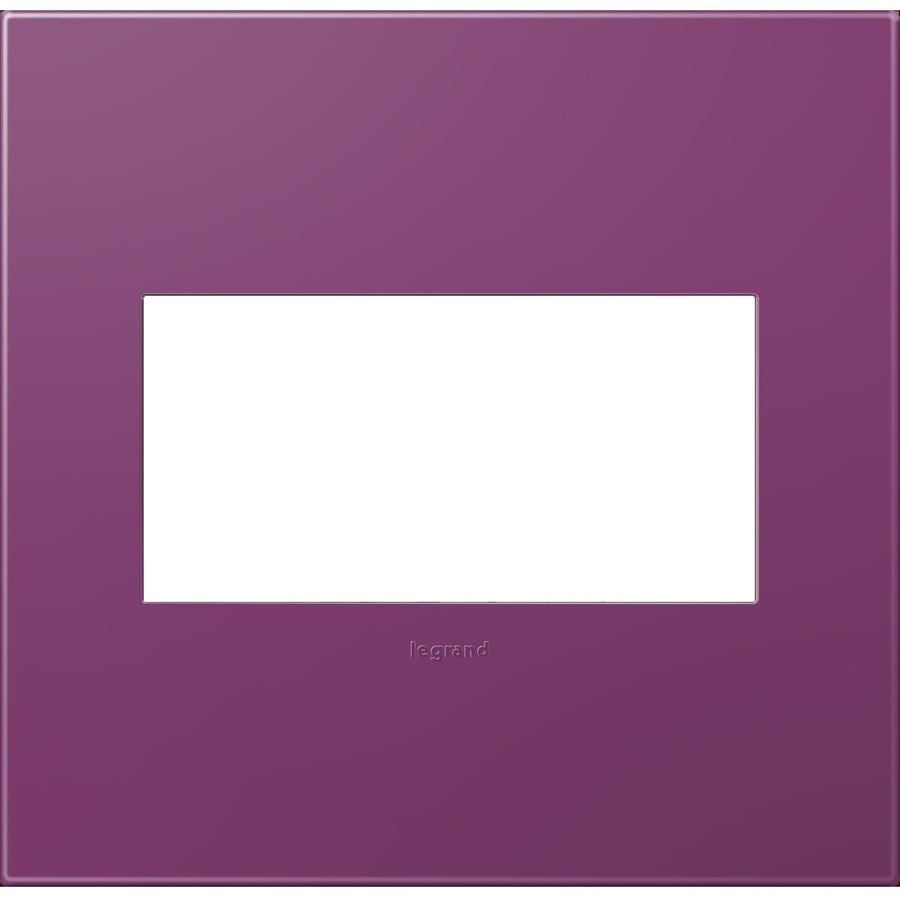 Legrand adorne 2-Gang Plum Double Square Wall Plate