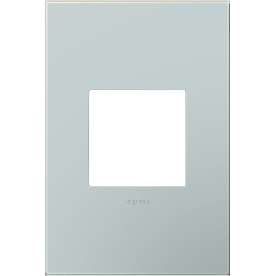 Legrand adorne 1-Gang Pale Blue Single Square Wall Plate