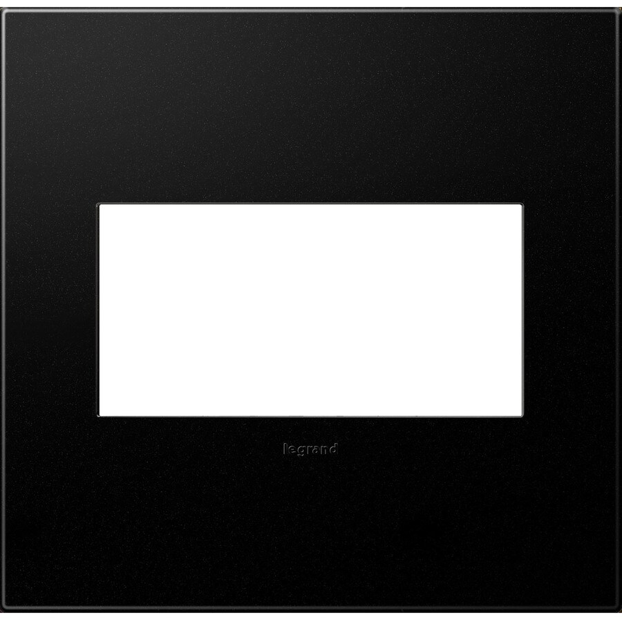 Legrand adorne 2-Gang Graphite Double Square Wall Plate
