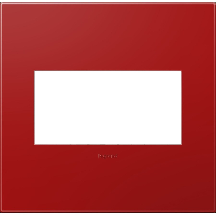 Legrand adorne 2-Gang Cherry Double Square Wall Plate