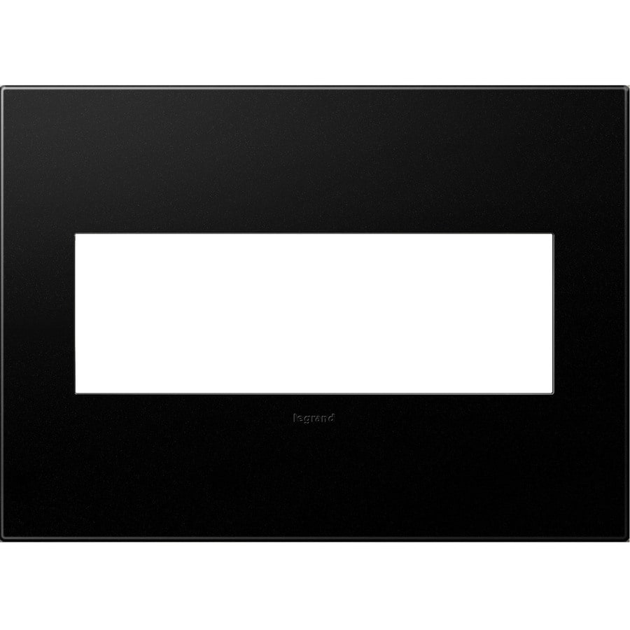 Legrand adorne 3-Gang Graphite Triple Square Wall Plate