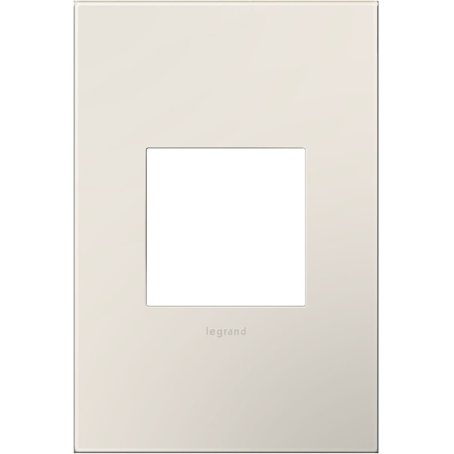 Legrand adorne 1-Gang Satin Light Almond Single Square Wall Plate