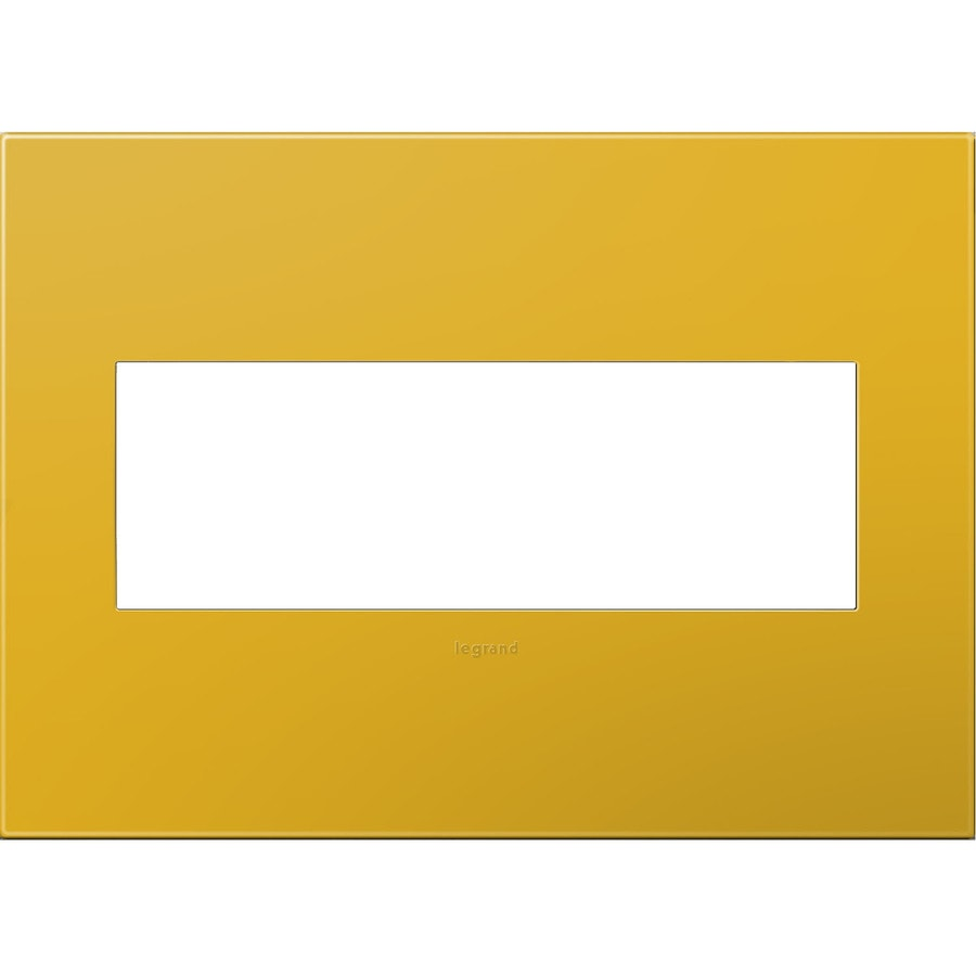 Legrand adorne 3-Gang Honey Triple Square Wall Plate