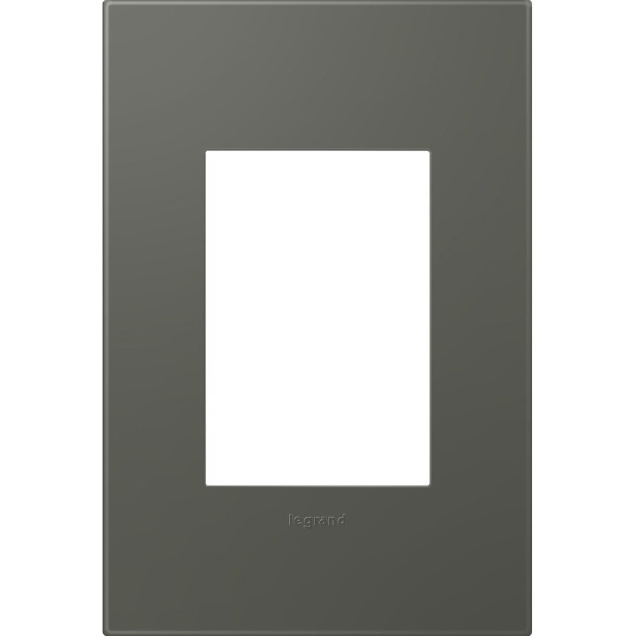 Legrand adorne 1-Gang Moss Grey Single Square Wall Plate