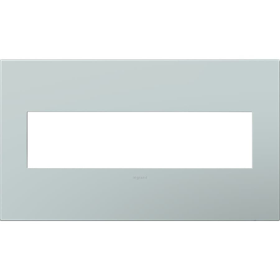 Pass & Seymour/Legrand adorne 4-Gang Pale Blue Quad Square Wall Plate