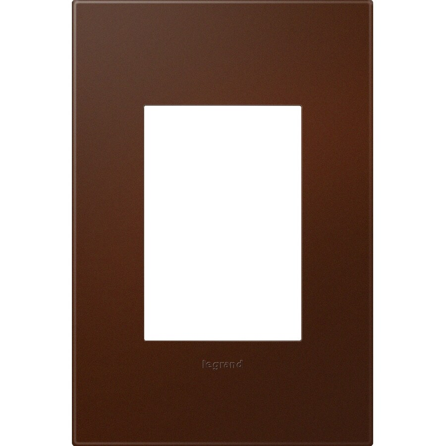 Legrand adorne 1-Gang Soft Touch Russet Single Square Wall Plate