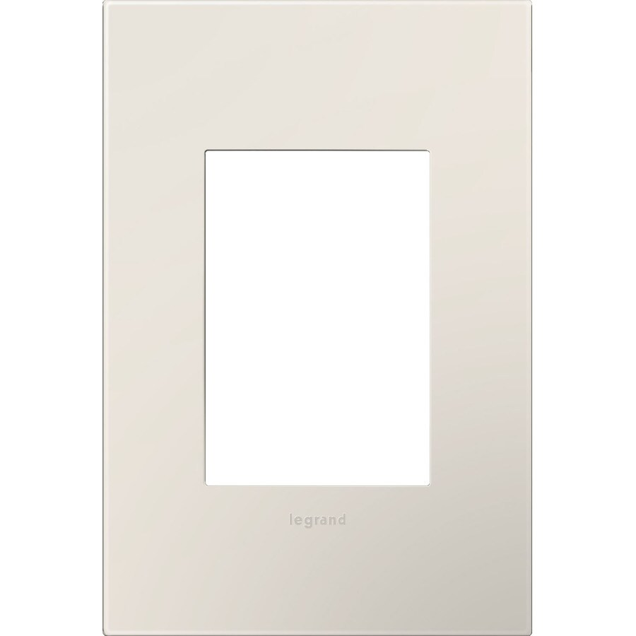 Legrand adorne 1-Gang Light Almond Single Square Wall Plate