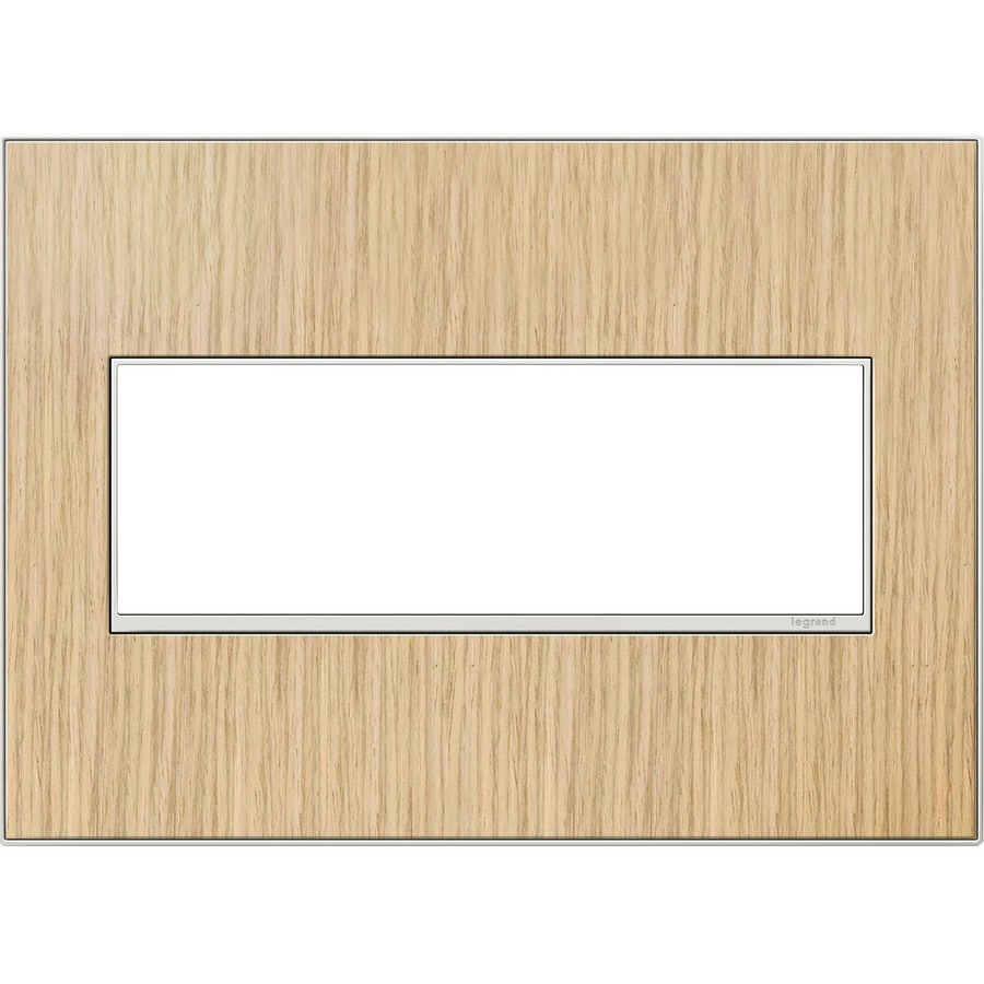 Legrand adorne 3-Gang French Oak Triple Square Wall Plate