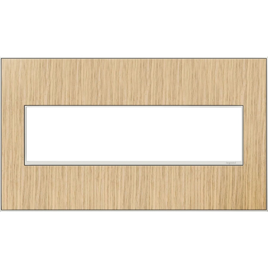 Legrand adorne 4-Gang French Oak Quad Square Wall Plate
