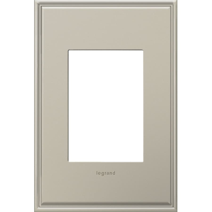 Legrand adorne 1-Gang Antique Nickel Single Square Wall Plate