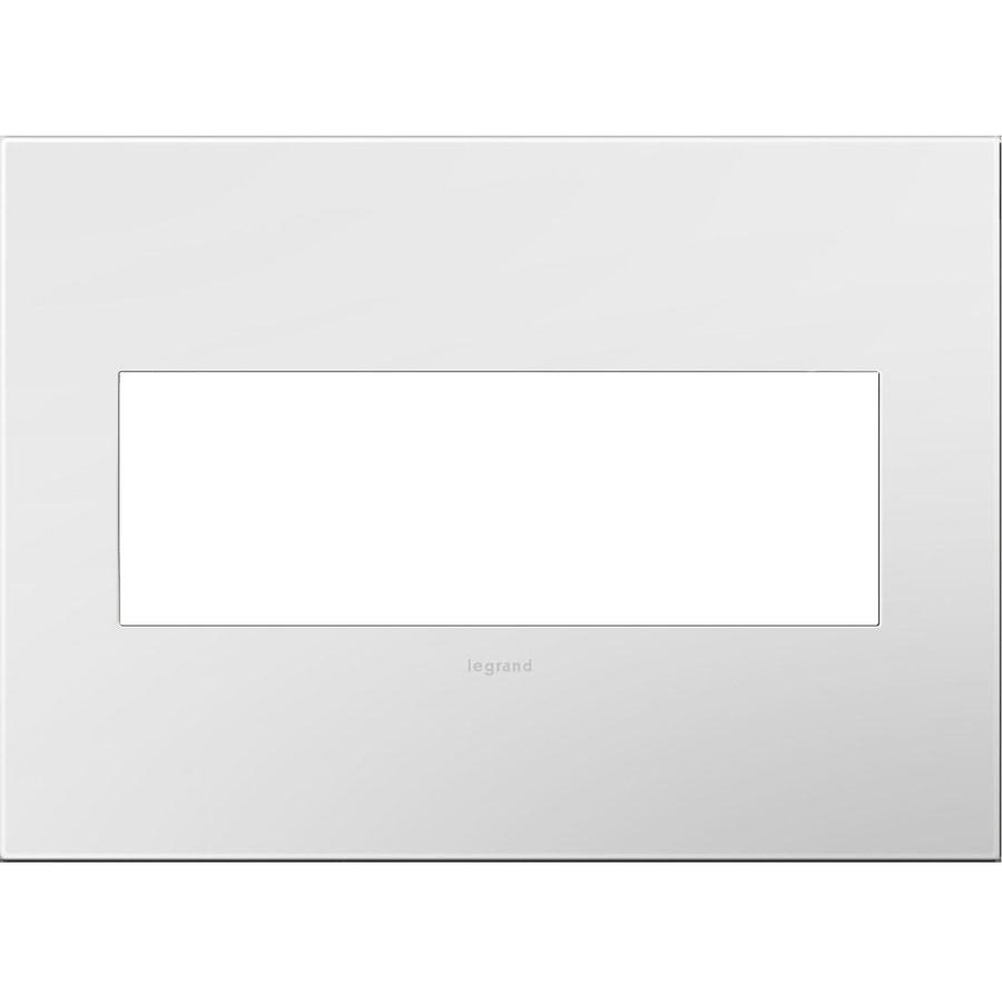 Legrand adorne 3-Gang Gloss White Triple Square Wall Plate