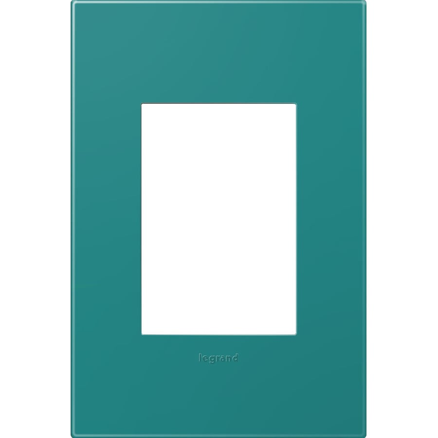 Legrand adorne 1-Gang Turquoise Single Square Wall Plate