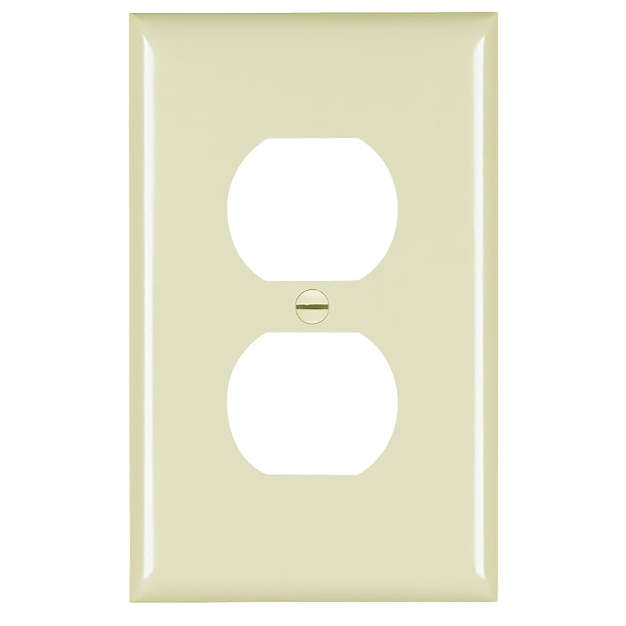 Pass & Seymour/Legrand Trademaster 1-Gang Ivory Single Duplex Wall Plate