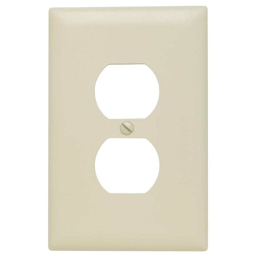 Pass & Seymour/Legrand Trademaster 1-Gang Light Almond Single Duplex Wall Plate