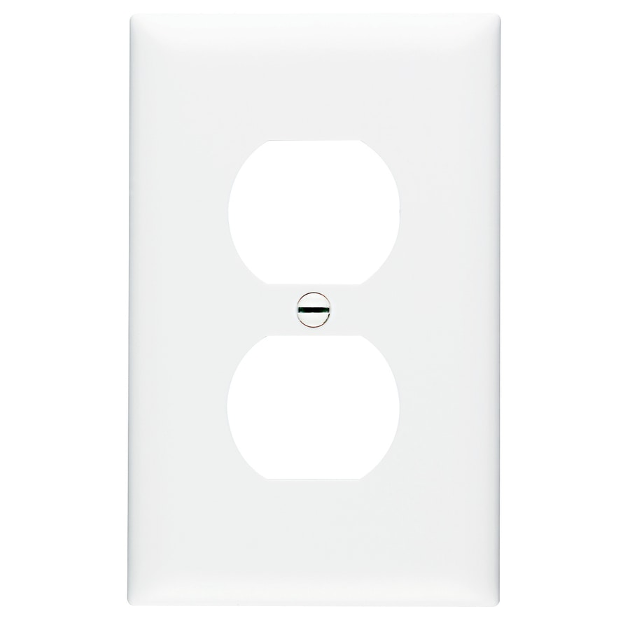 Pass & Seymour/Legrand Trademaster 1-Gang White Single Duplex Wall Plate