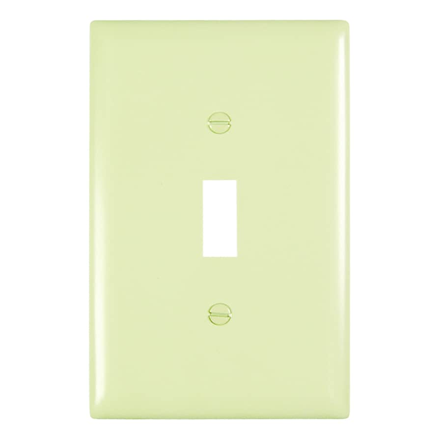 Pass & Seymour/Legrand Trademaster 1-Gang Ivory Single Toggle Wall Plate