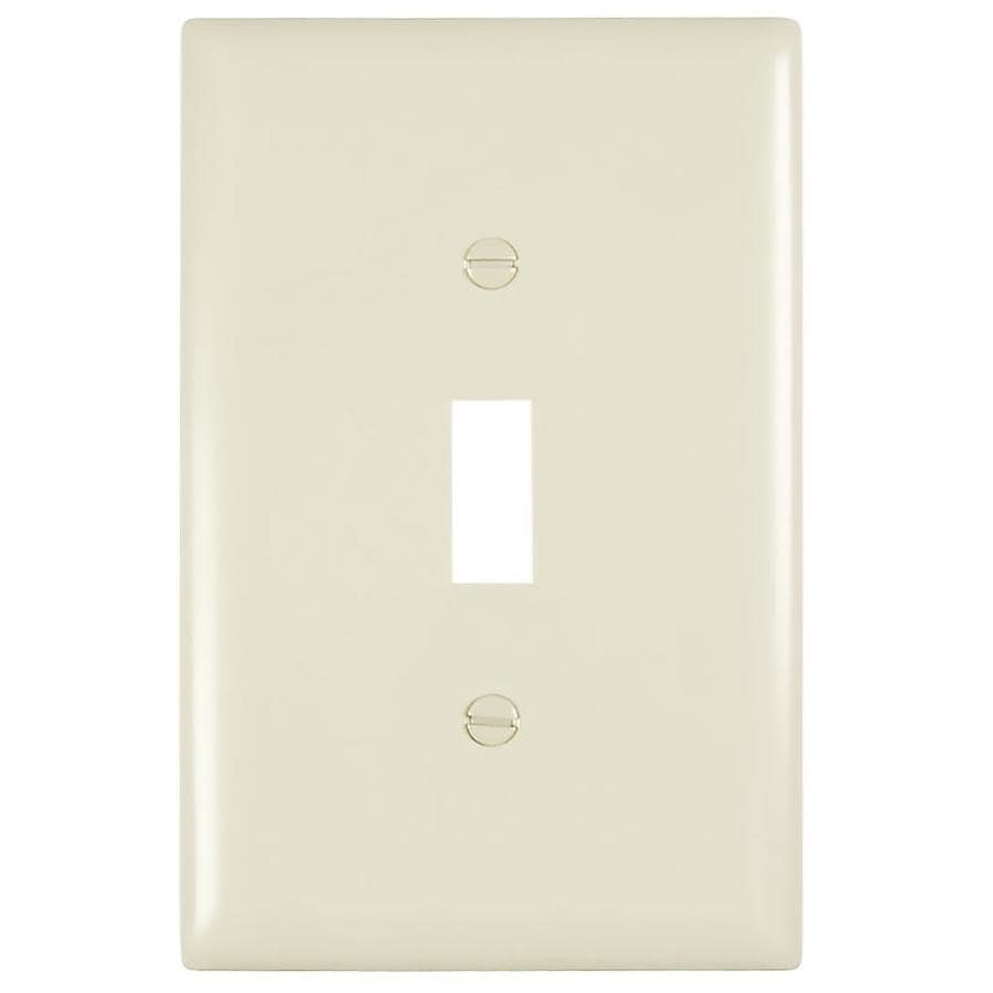 Pass & Seymour/Legrand Trademaster 1-Gang Light Almond Single Toggle Wall Plate