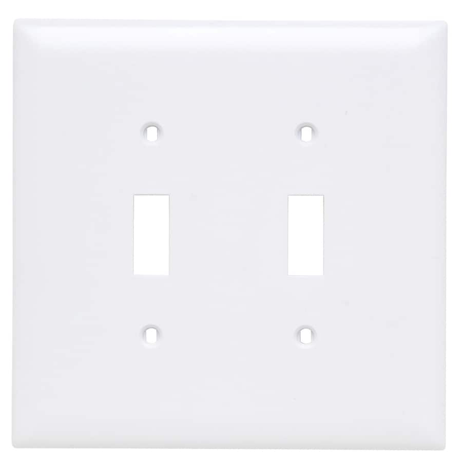 Pass & Seymour/Legrand Trademaster 2-Gang White Double Toggle Wall Plate