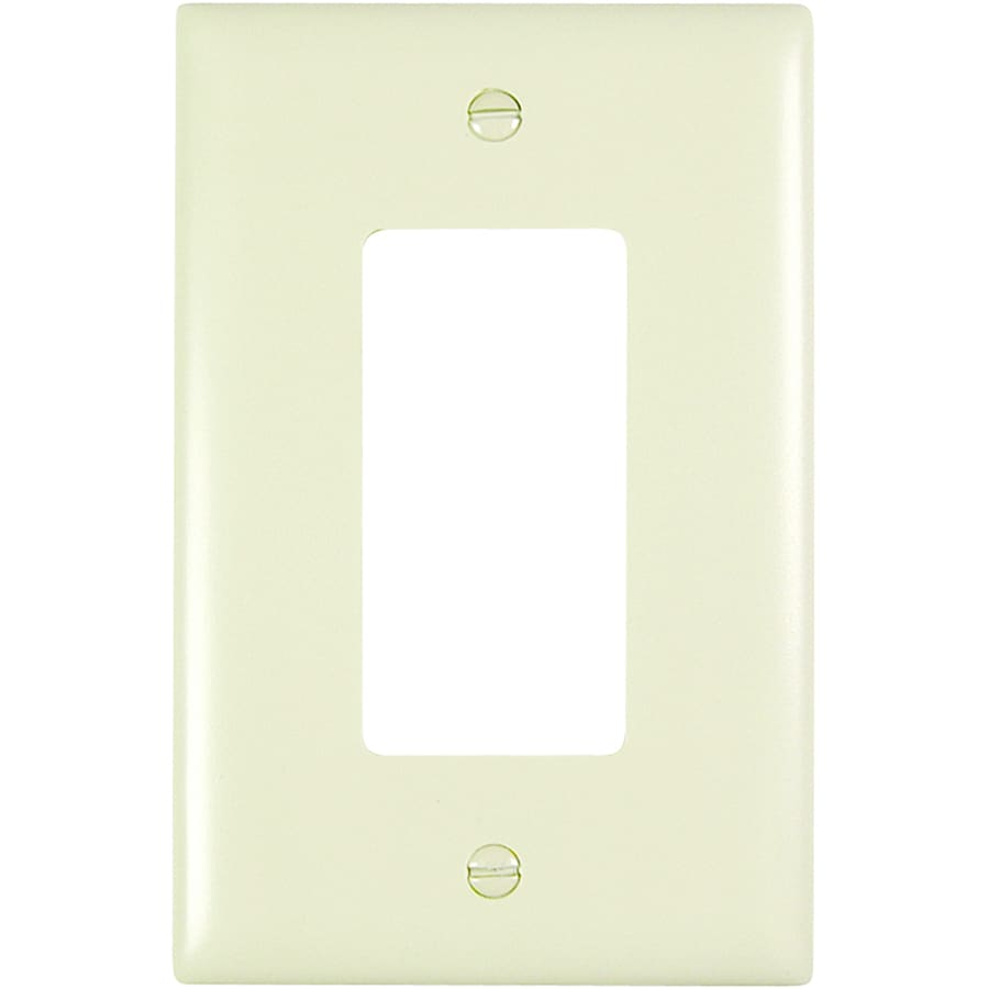 Pass & Seymour/Legrand Trademaster 1-Gang Light Almond Single Decorator Wall Plate