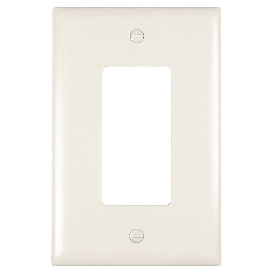 Legrand 1 Gang White Single Decorator Jumbo Wall Plate In The Wall Plates Department At Lowes Com