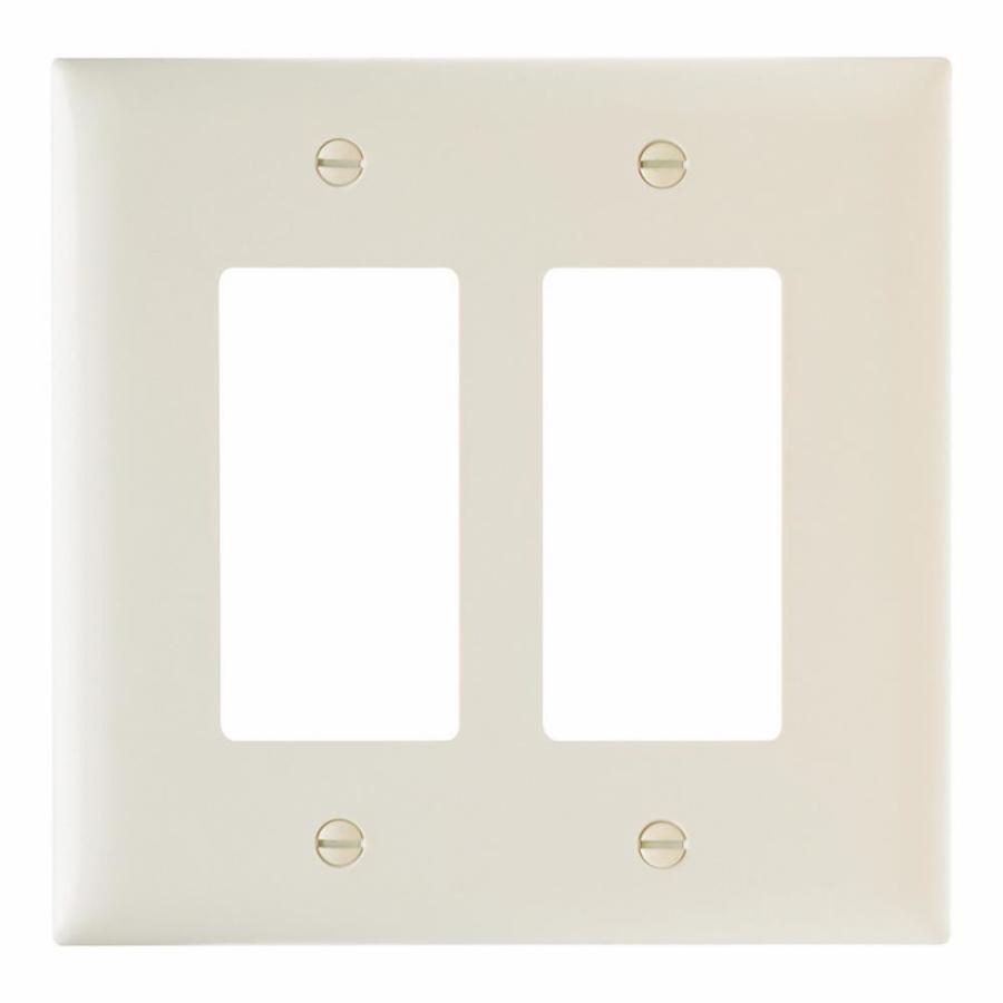 Pass & Seymour/Legrand Trademaster 2-Gang Light Almond Double Decorator Wall Plate
