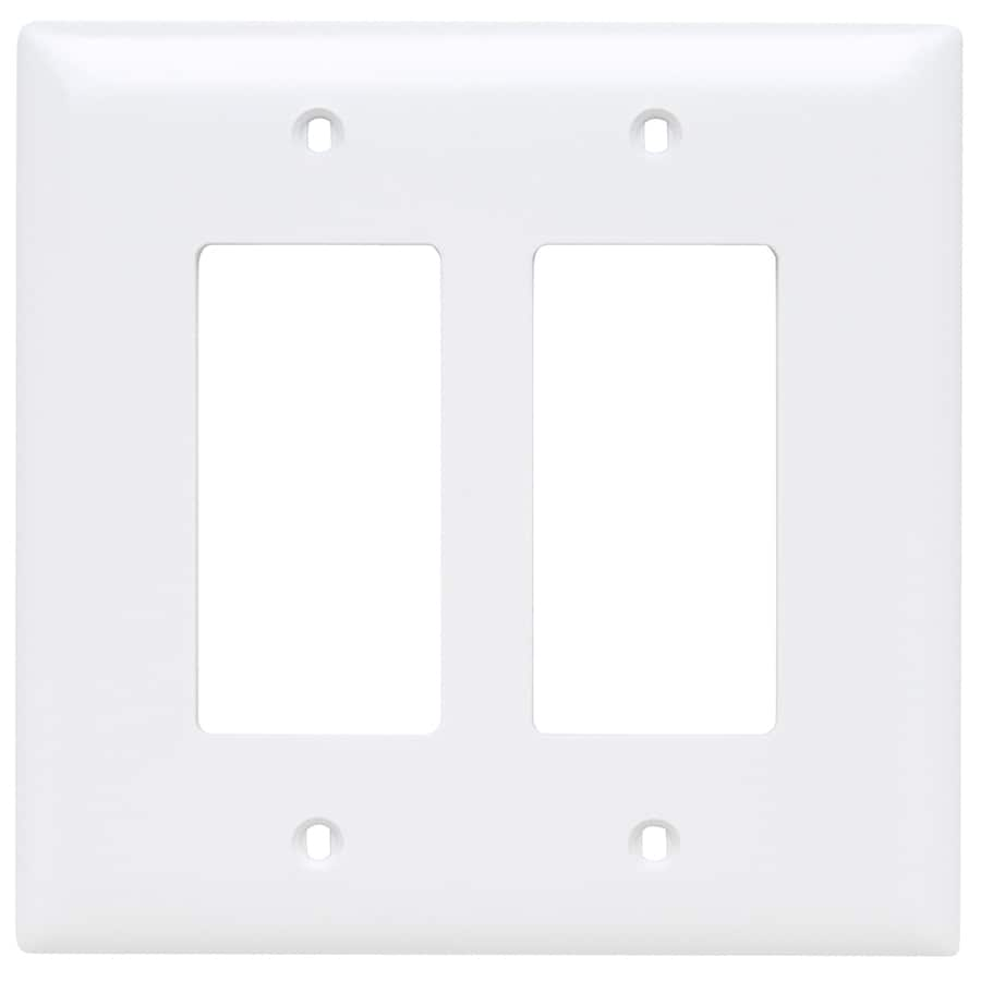 Pass & Seymour/Legrand Trademaster 2-Gang White Double Decorator Wall Plate