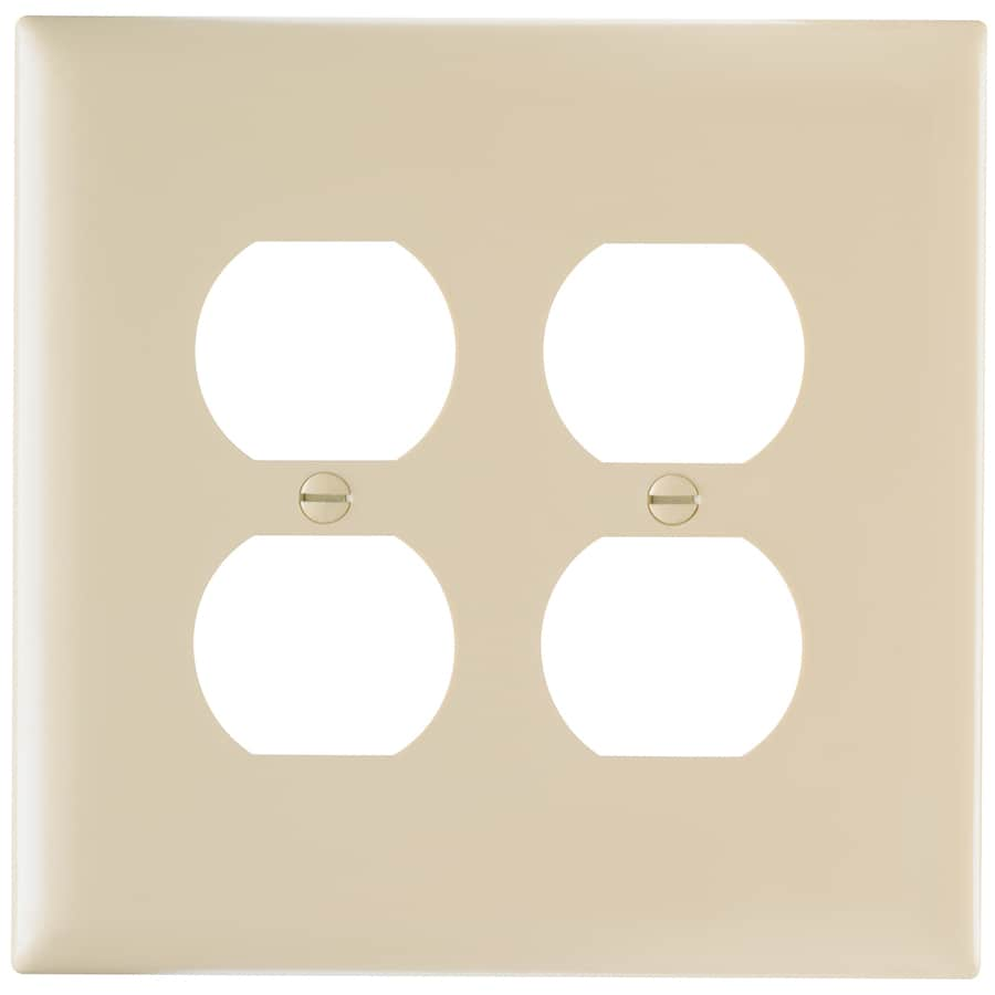 Pass & Seymour/Legrand Trademaster 2-Gang Ivory Double Duplex Wall Plate