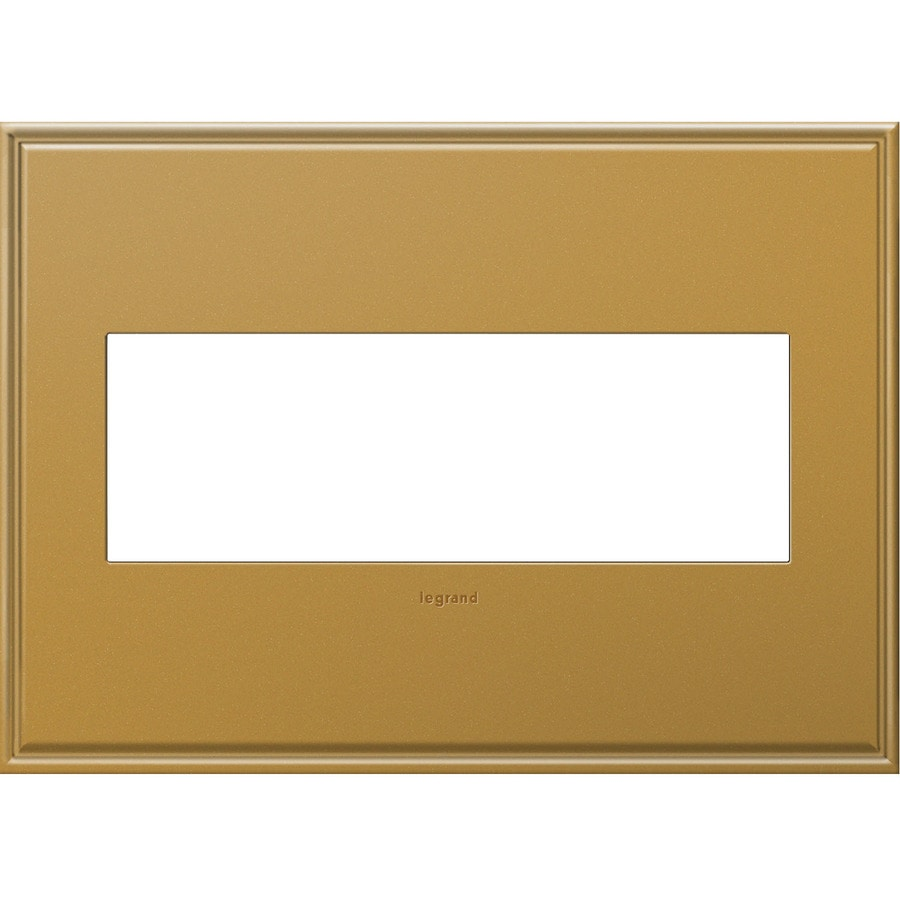 Legrand adorne 3-Gang Antique Bronze Triple Square Wall Plate