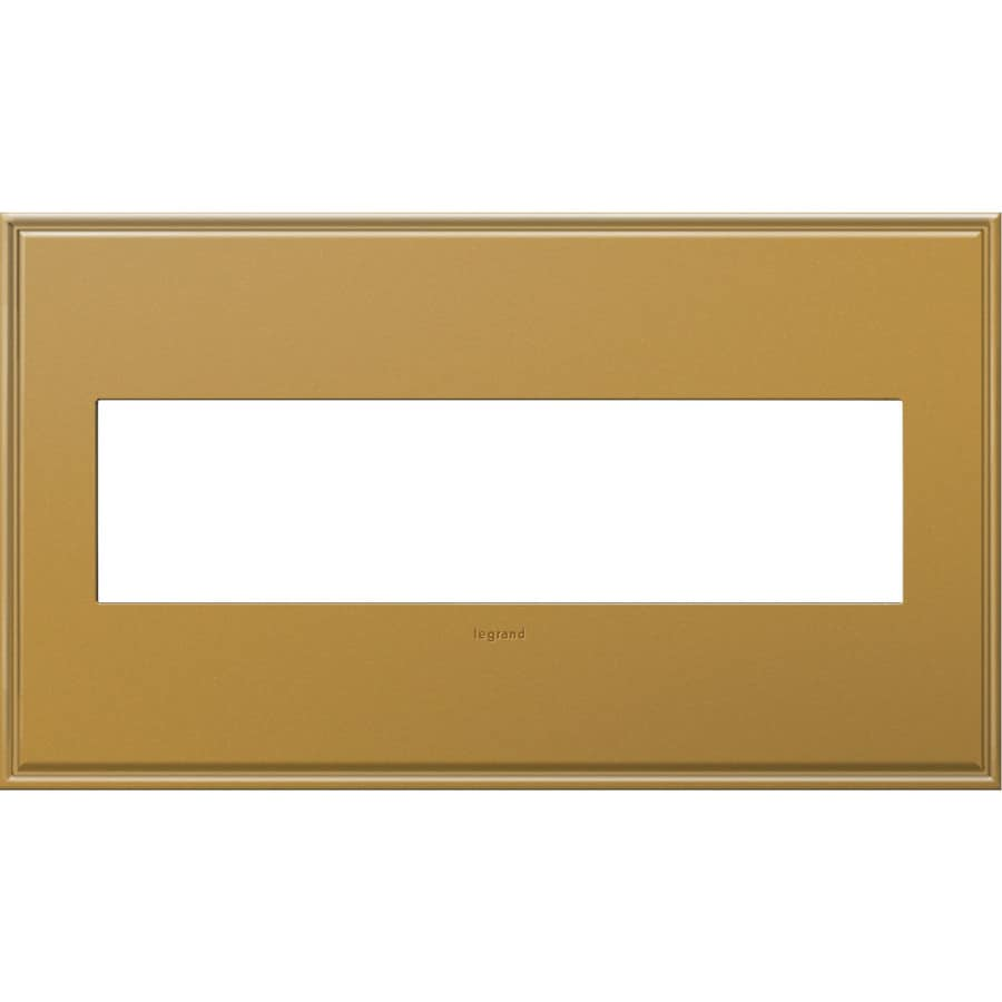 Legrand adorne 4-Gang Antique Bronze Quad Square Wall Plate