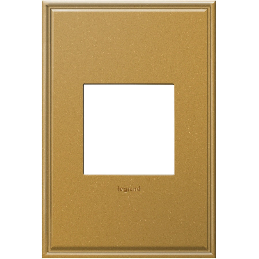 Legrand adorne 1-Gang Antique Bronze Single Square Wall Plate
