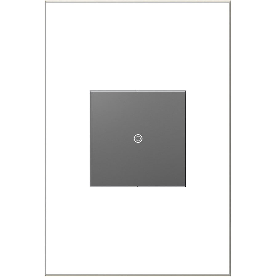 Legrand adorne SofTap Single Pole 3-Way Magnesium Light Switch