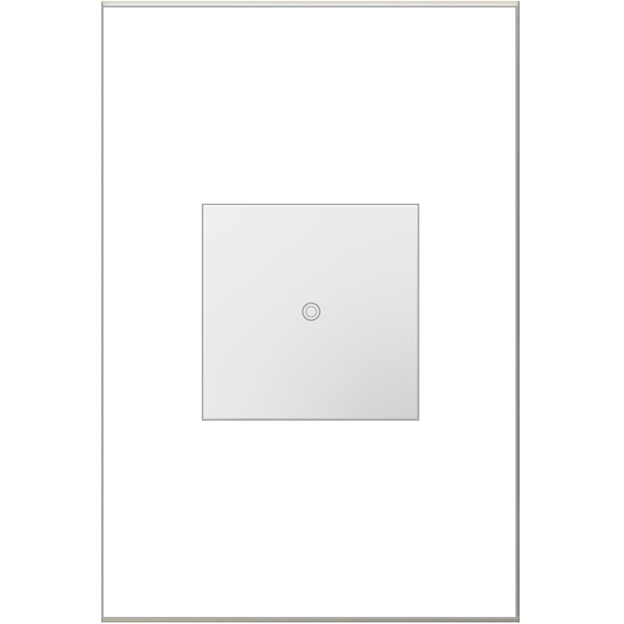 Legrand adorne SofTap Single Pole 3-Way White Light Switch