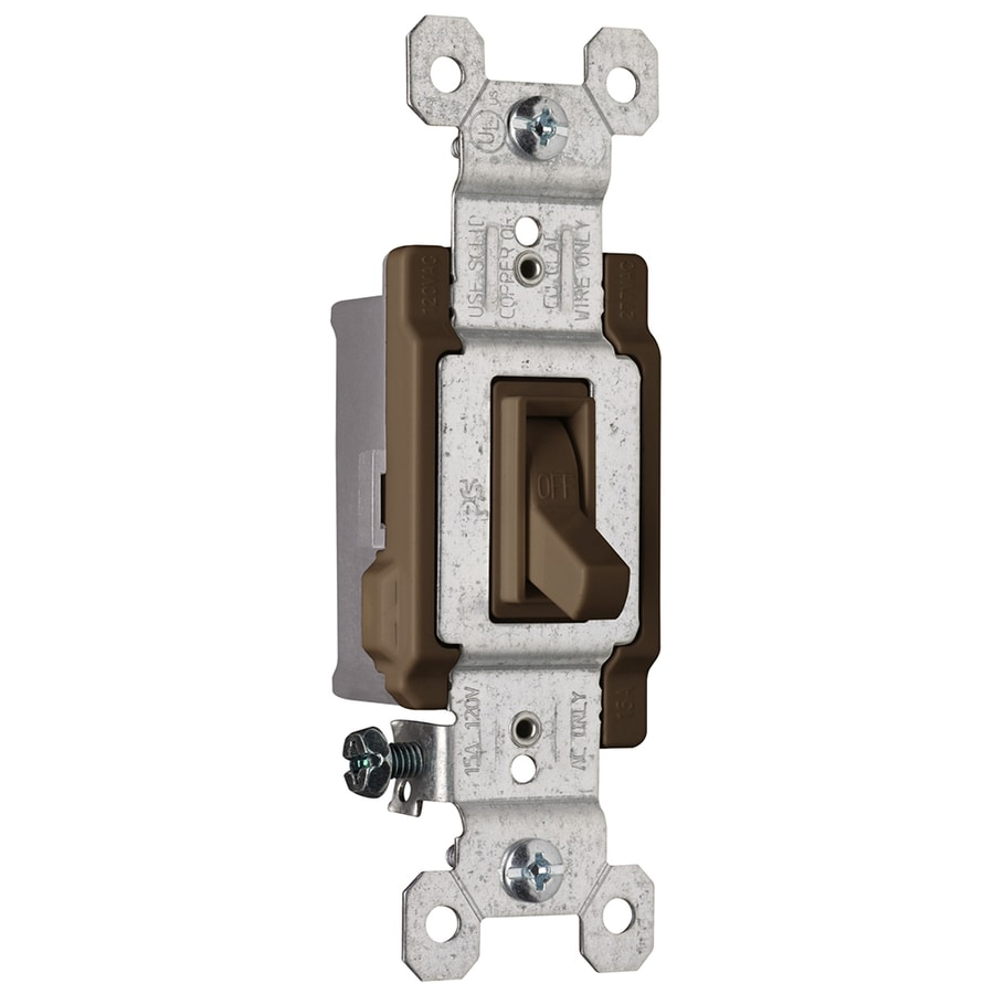 Pass & Seymour/Legrand 15-amp Single Pole Brown Framed Toggle Indoor Light Switch