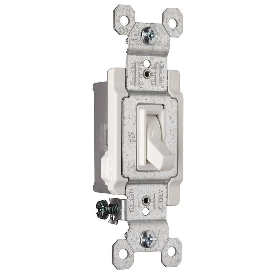 Pass & Seymour/Legrand 15-Amp Single Pole White Indoor Framed Toggle Light Switch