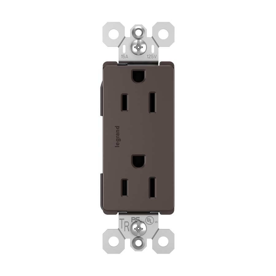 Legrand Radiant 15-Amp 125-Volt Dark Bronze Indoor Decorator Wall Tamper Resistant Outlet