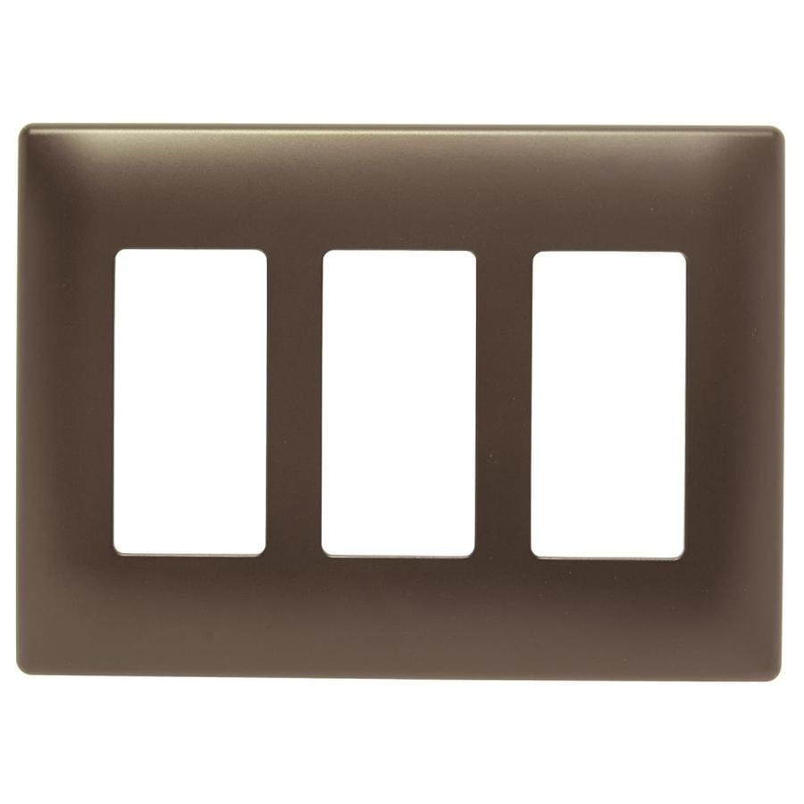 Pass & Seymour/Legrand Trademaster 3-Gang Dark Bronze Decorator Wall Plate