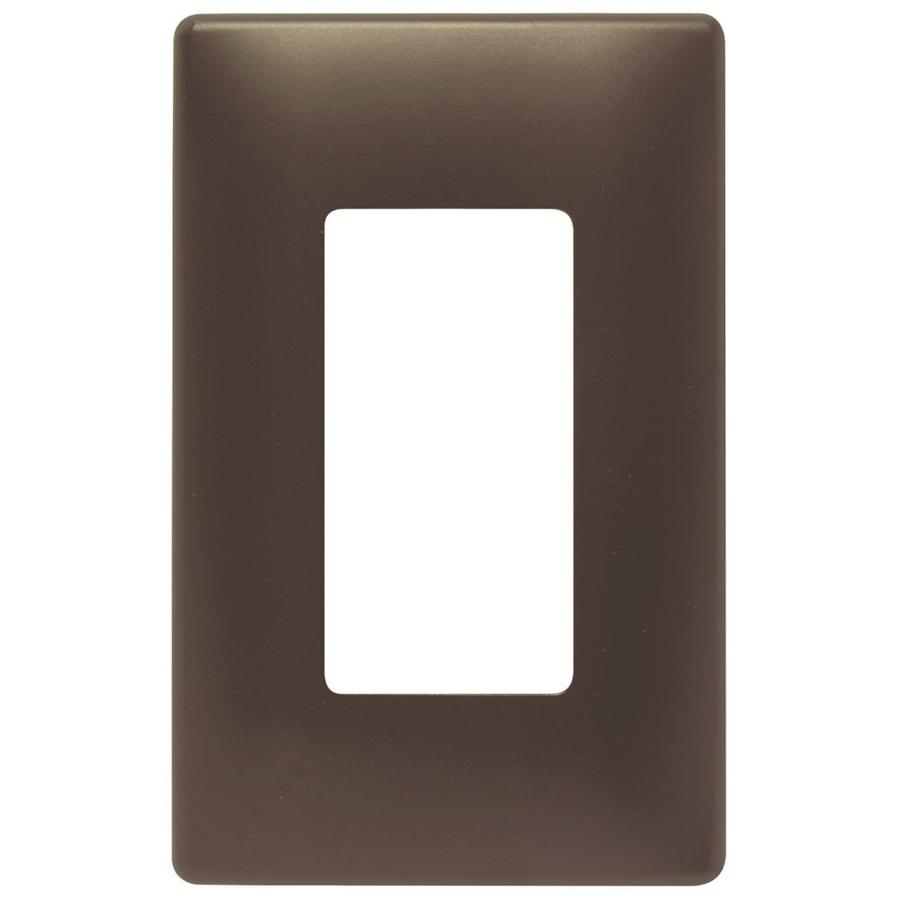 Pass & Seymour/Legrand Trademaster 1-Gang Dark Bronze Decorator Wall Plate