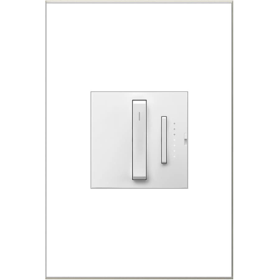 Legrand adorne Whisper 15/20-Amp Single Pole 3-Way White Slide Indoor Dimmer