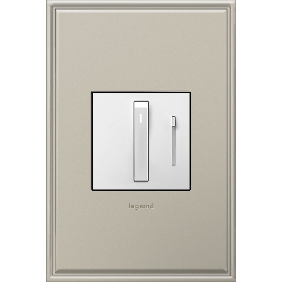 Pass & Seymour/Legrand Adorne Whisper 15/20-amp Single Pole 3-way Magnesium Slide Indoor Dimmer