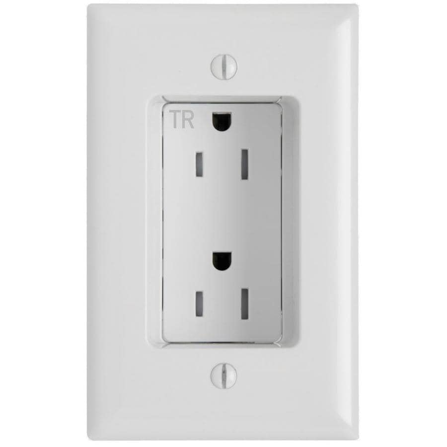 Shop legrand 15 amp 125 volt white recessed indoor for Decorator collection outlet