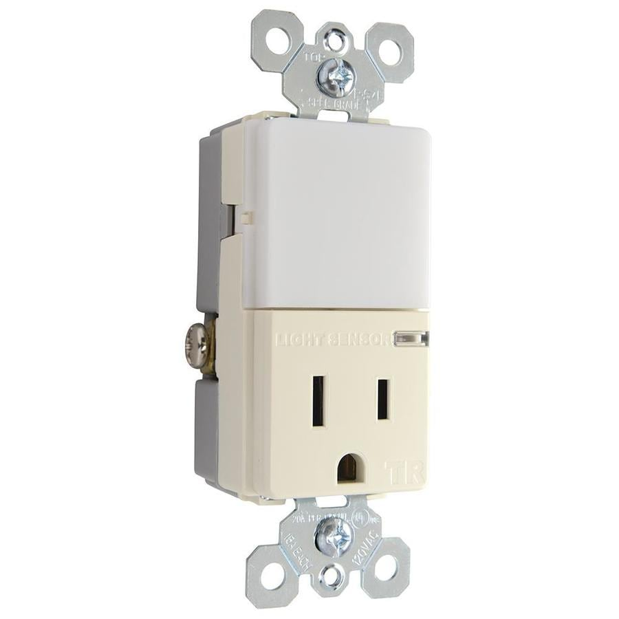 Pass & Seymour/Legrand TradeMaster 15-Amp 125-Volt Light Almond Combination Tamper Resistant Electrical Outlet