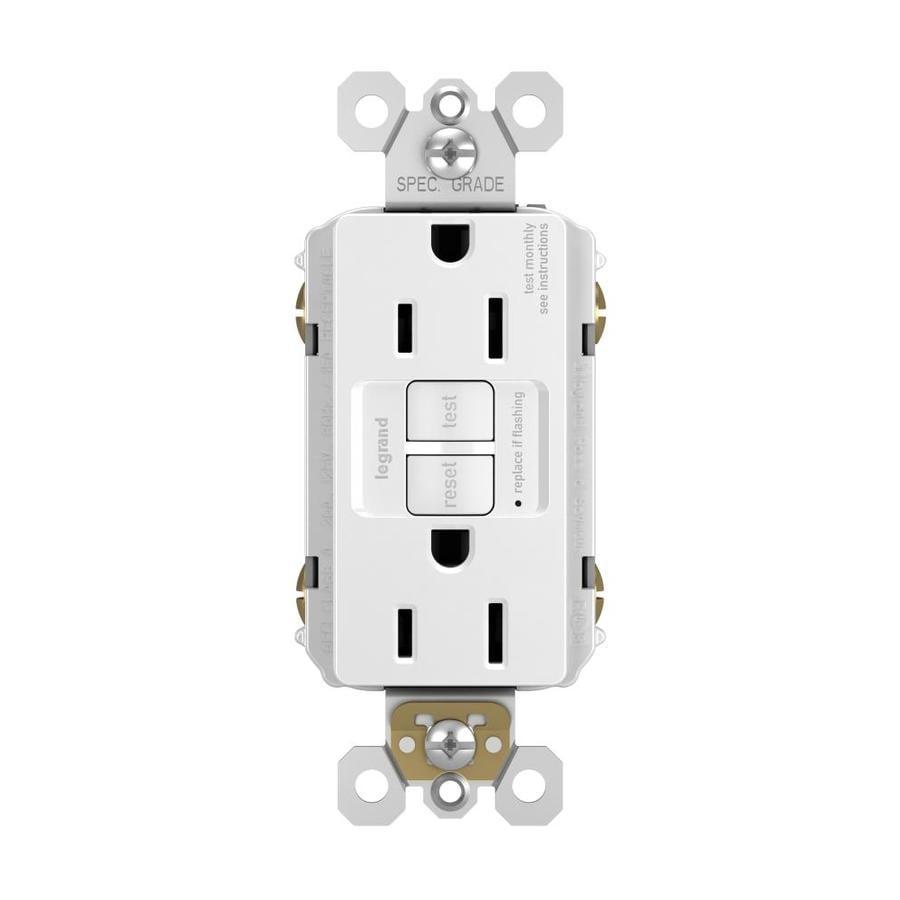 Pass & Seymour/Legrand 15-Amp 125-Volt White GFCI Decorator