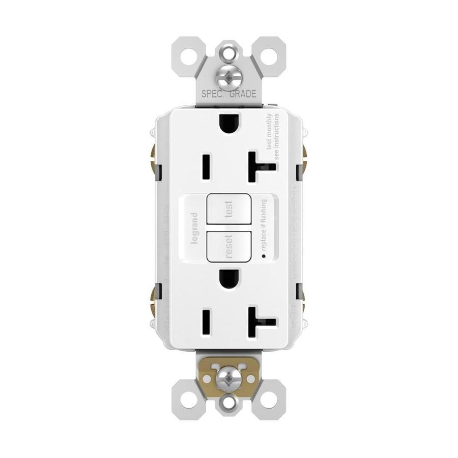 Pass & Seymour/Legrand 20-Amp 125-Volt White GFCI Decorator