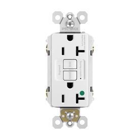 legrand white 20-amp decorator tamper resistant gfci hospital outlet